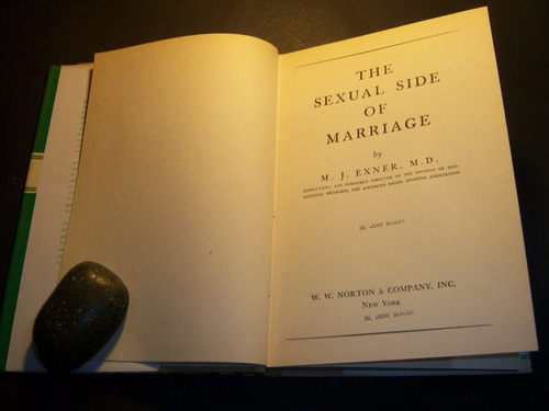 the sexual side of marriage. m j exner