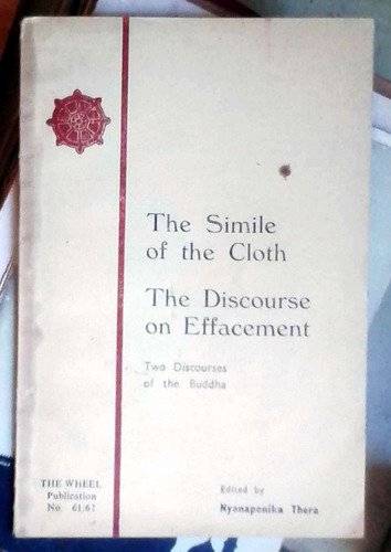 the simile of the cloth / the discourse of effacement  - two