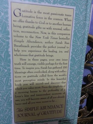 the simple abundance journal of gratitude - sarah ban breath
