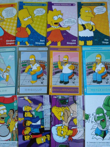 the simpsons cards lote tarjetas coleccionables