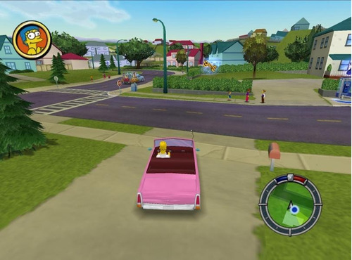 the simpsons: hit & run en hd !! en español - pc digital