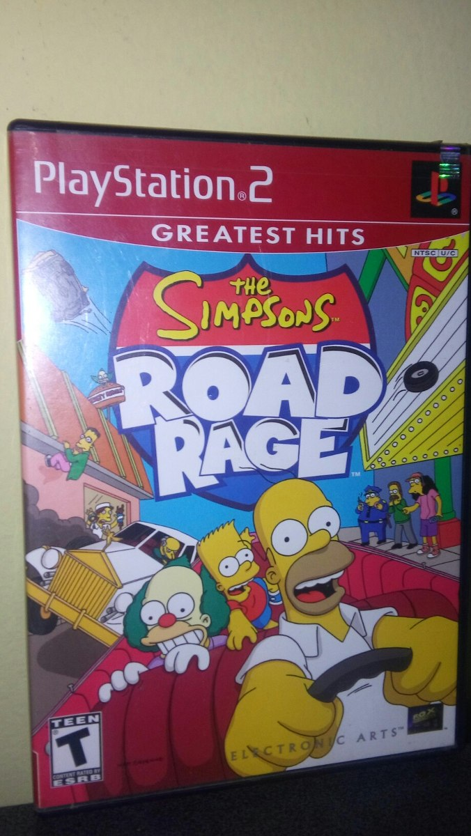 The Simpsons : Road Rage - Play Station 2 Ps2 - S/ 30,00