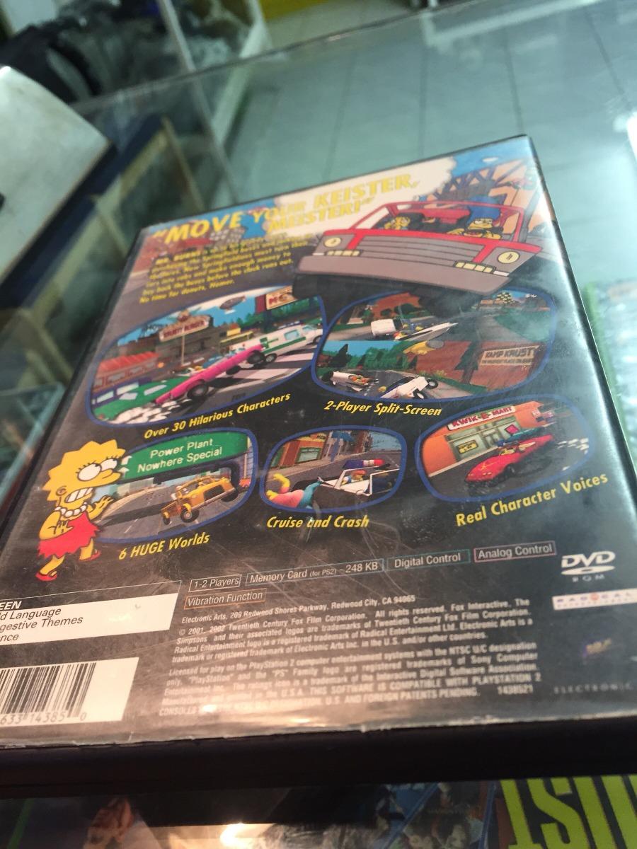 The Simpsons Road Rage Ps2 Y Playstacion 2 - $ 379 00