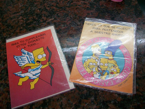 the simpsons tarjetas año 92 retro