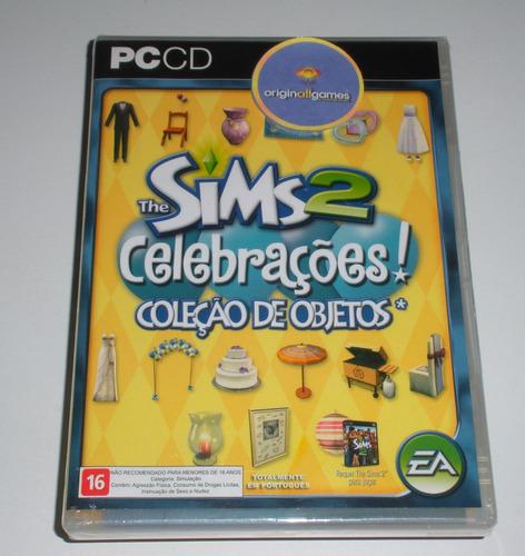 the sims 2 celebrações ¦ jogo pc orig lacrado ¦ mídia fís
