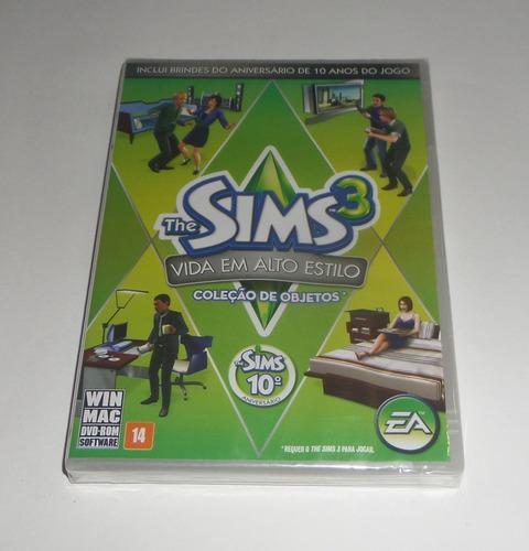 the sims 3 vida em alto estilo original lacrado física pc