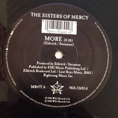 the sisters of mercy, more, you could be the one, vinyl