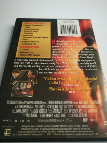 the sixth sence collector's ( el sexto sentido) dvd