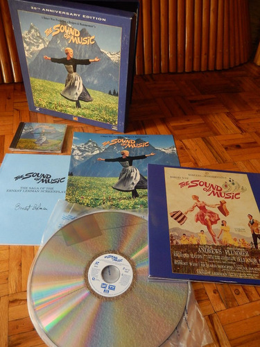 the sound of music box set 30th aniversario cd + 3 laser dis