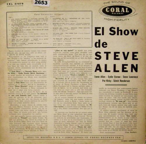 the steve allen show interpretes varios-vinilo