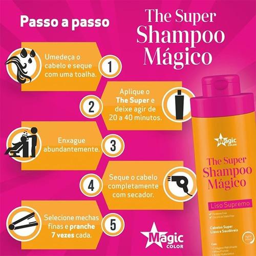 the super shampoo mágico alisante 300ml - magic color
