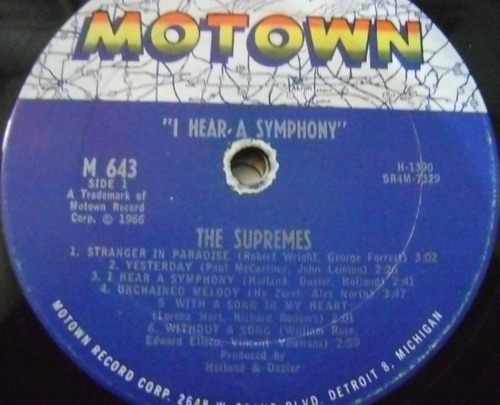 the supremes / i hear a symphony 1 disco lp vinilo