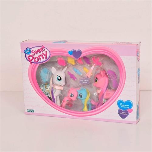 the sweet pony 1996 family con stickers y accesorios promo!