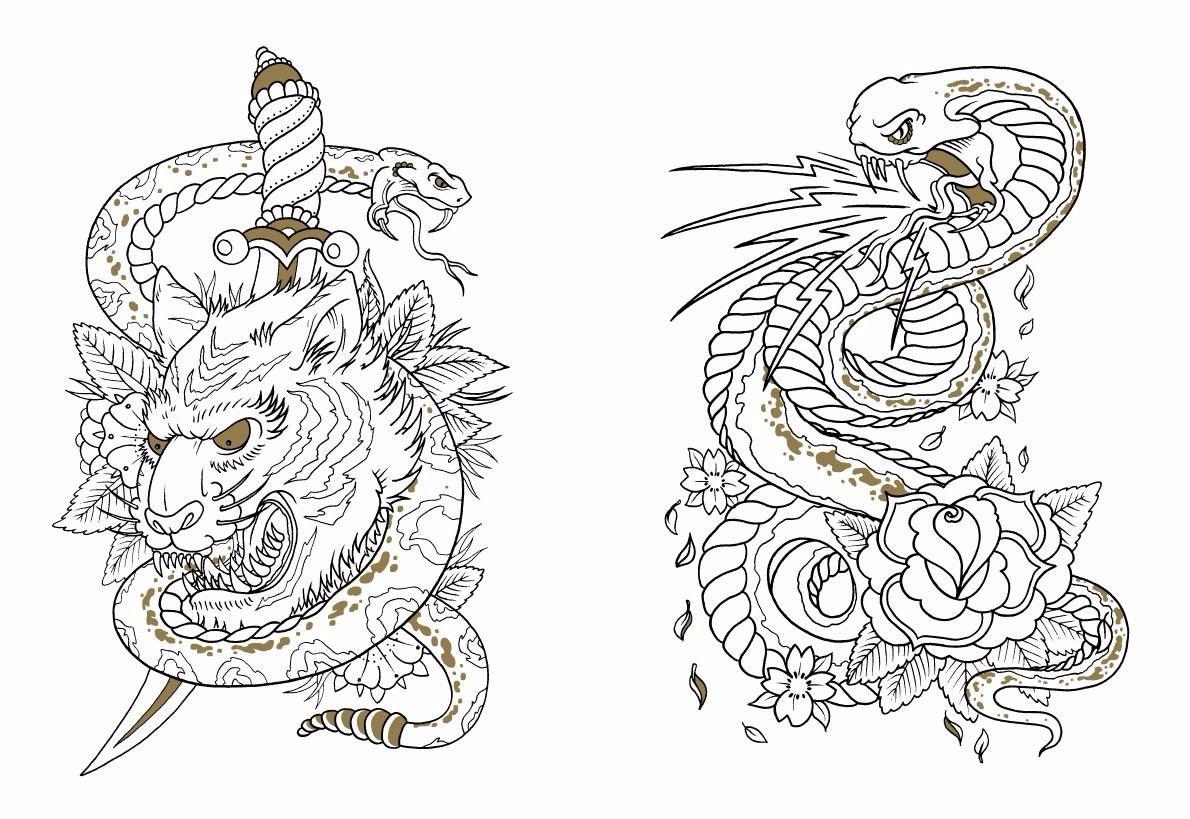 the tattoo colouring book megamunden