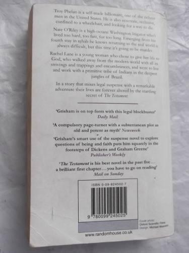 the testament john grisham en ingles original