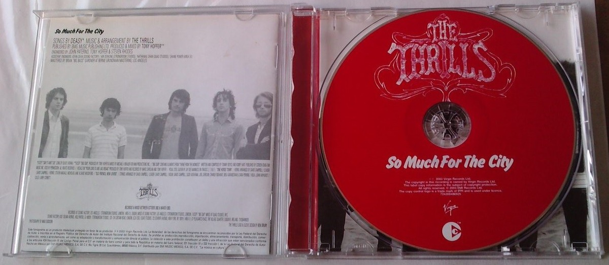 The Thrills So Much For The City Cd Multimedia C/booklet - $ 115 00
