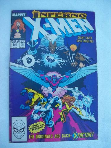 the uncanny x-men nº 242: inferno - burn! - 1989 - marvel