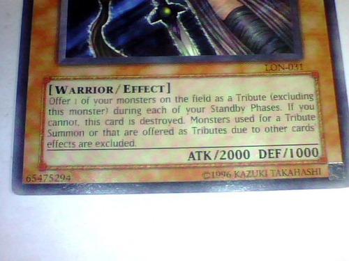 the unfriendly amazon -x1- lon-031- warrior eff - yugioh 1st