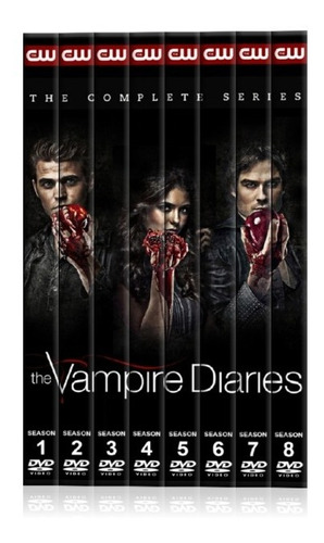 the vampire diaries,temporada 1-8,dvd,latino