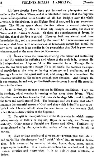 the vedanta-sutras with the commentary govinda bhasya