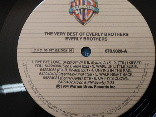 The Very Best Everly Brothers - Lp Vinil