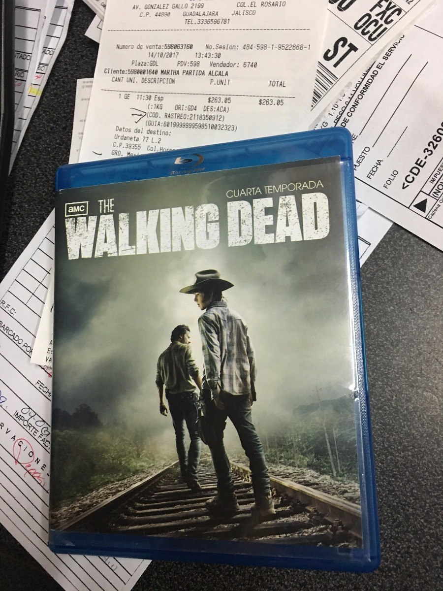 The Walking Dead 4 Temporada Blue Ray Semi Nueva - $ 122.00 en ...