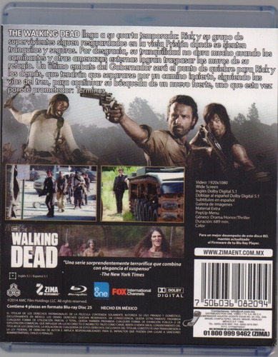 the walking dead cuarta temporada 4 cuatro blu-ray