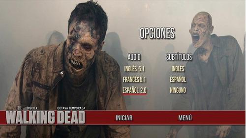 the walking dead, dvd,latino