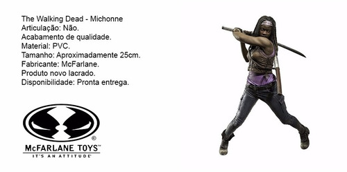 the walking dead - michonne - mcfarlana - 25cm