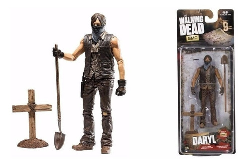 the walking dead muddy grave digger daryl dixon serie 9