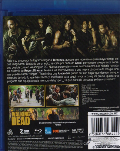 the walking dead quinta temporada 5 cinco blu-ray