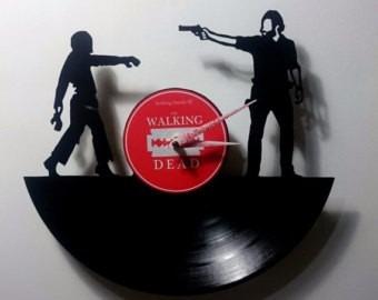 the walking dead rick 4 - relógio de parede