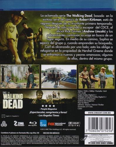 the walking dead segunda temporada 2  blu-ray