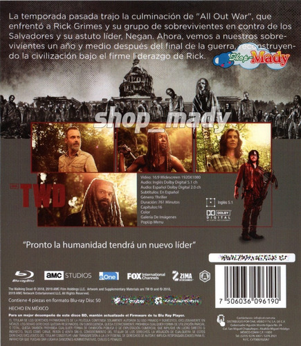 the walking dead temporada 9 blu-ray doblada al español