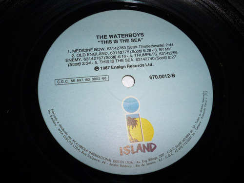 the water boys this is the sea  lp c/ encarte nac. 1985