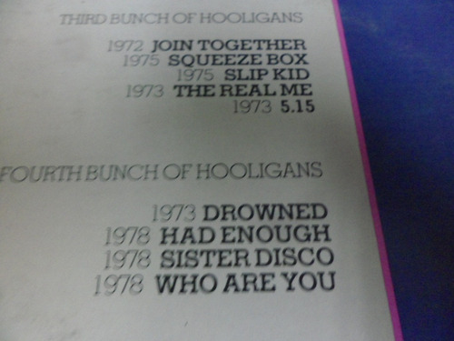 the who vinyl l.p. de 12 hooligans importado
