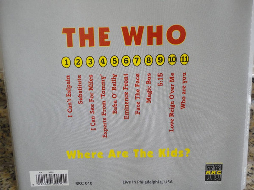 the who - where are the kids live in philadelphia , usa