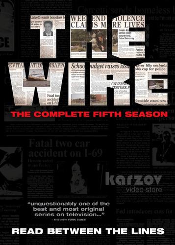 the wire bajo escucha quinta temporada 5 cinco dvd