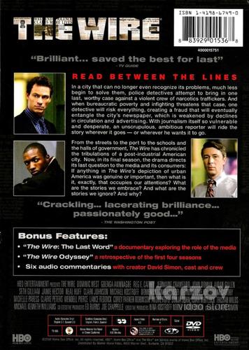 the wire bajo escucha temporada 5 cinco quinta importada dvd