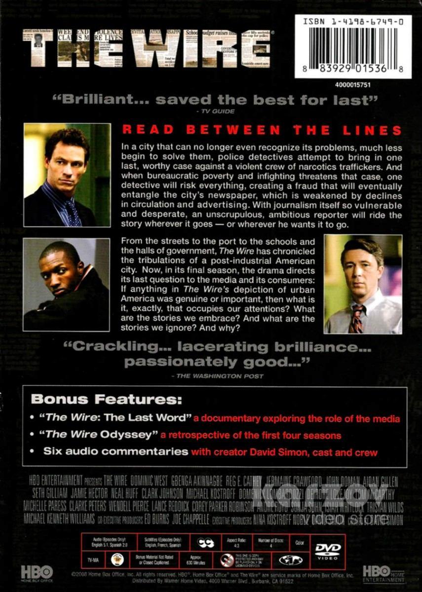the wire season 5 bajo escucha temporada 5 dvd   689 00