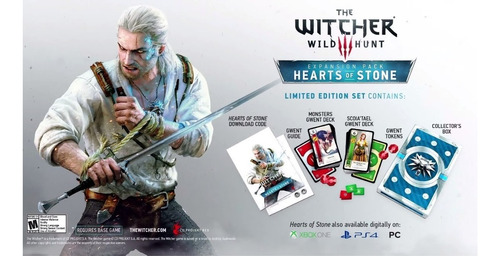 the witcher 3: hearts of stones coleccionista en ingles