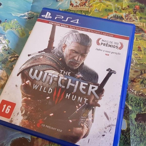 the witcher 3 wild hunt  ps4 100% português mídia física