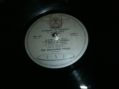 the wolfgang press standing up straight vinilo lp promo