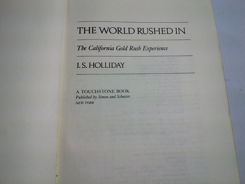the world rushed in j.s. holliday 1983