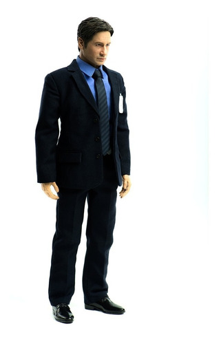 the x-files agent mulder figura 1/6 threezero - robot negro
