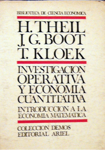theil investigacion operativa economía cuantitativa no envio