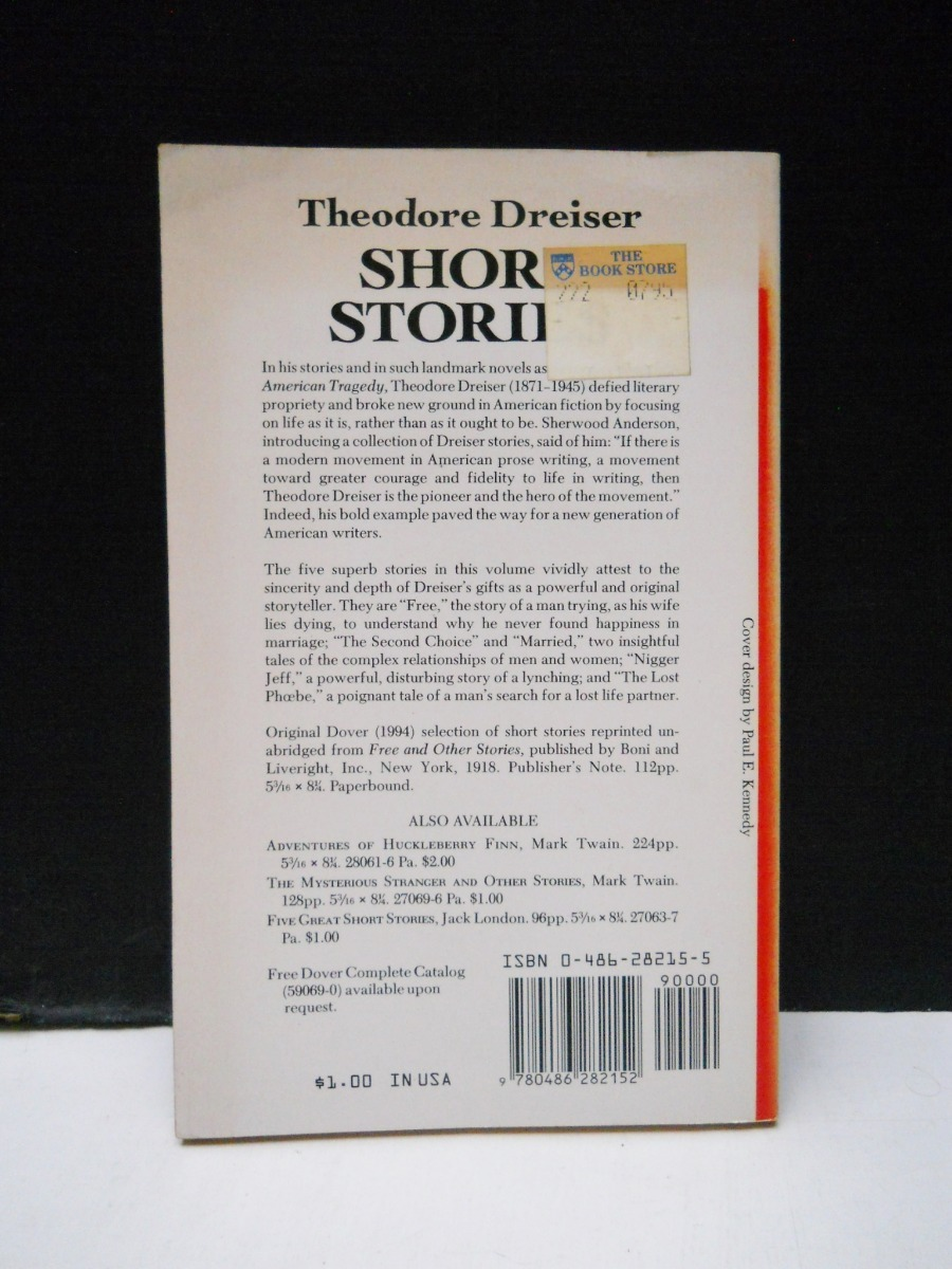 Theodore Dreiser - Short Stories - En Inglés