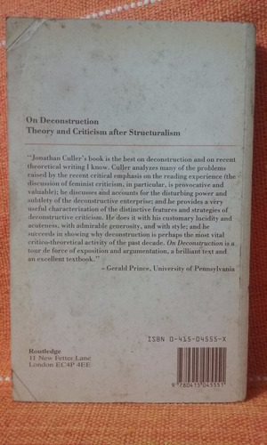 theory and criticism after structuralism - jonathan culler