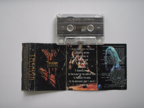 therion deggial cassette printed portugal 2000