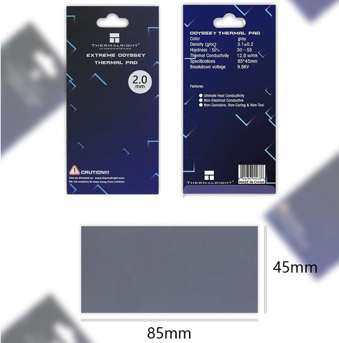 thermal pad thermalright extreme 1mm - 85x45mm 12.8w/mk